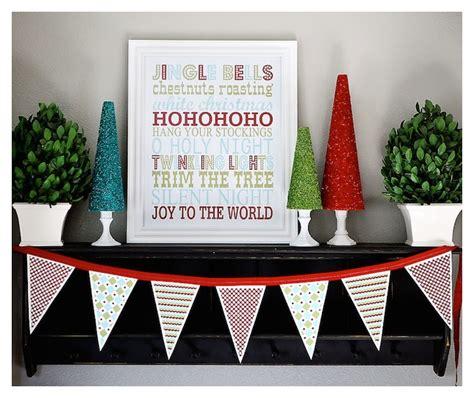 christmas diy decorations printouts free printables subway and banner mod podge rocks