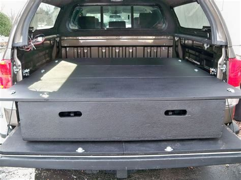 truck bed drawer system tacoma diy bed storage system for my truck toyota tundra