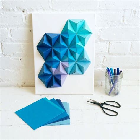 origami wall art ideas  pinterest