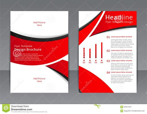 corporate jacket layout vector design of the red flyer cover brochure poster