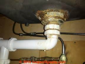 Kitchen Sink Leak How To Repair A Leaky Sink Strainer Drain