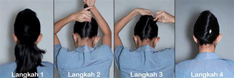tutorial rambut kepang konde cara membuat sanggul ala pramugari pspp penerbangan