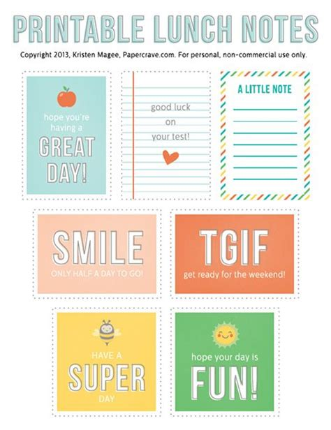 printable lunchbox notes 7 free printable lunch box notes