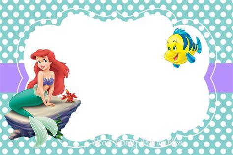 free printable little mermaid birthday invitations alesi