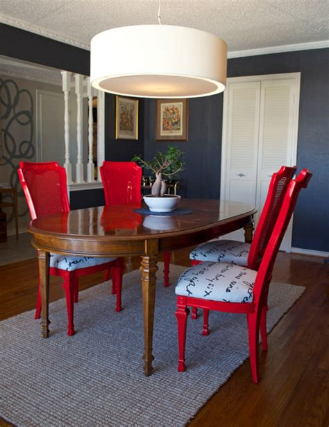 eclectic dining room chairs diy ideas spray paint and reupholster your dining room