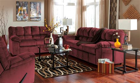 burgundy living room furniture julson burgundy living room set from ashley 26602 38 35