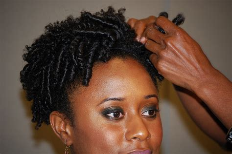 how to coil short natural hair step by step spiral updo for short natural hair