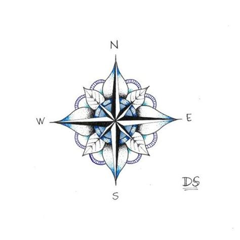 simple compass tattoo design simple compass tattoo clipart best