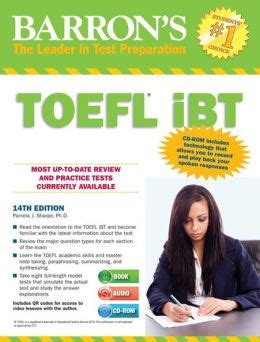 How To Prepare Toefl For Pemula Cd 1 barron s toefl ibt with audio cds and cd rom 14th edition