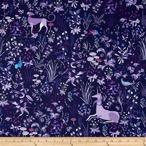 unicorn pattern fabric the lovely hunt unicorn mural blue discount designer
