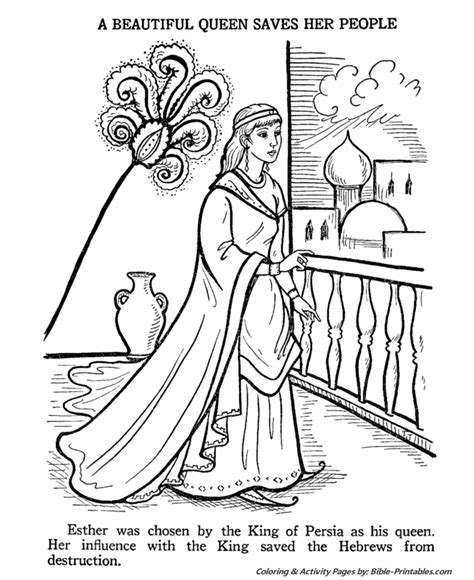 coloring pages for bible stories coloring esther bible quotes quotesgram