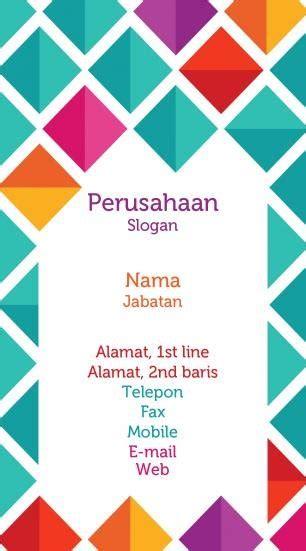 template kartu nama girly contoh cartu nama elegan