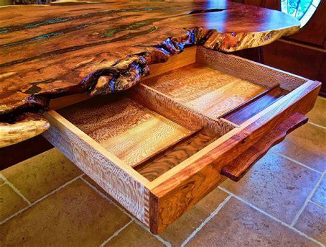 live edge writing desk custom handmade live edge mesquite writing desk