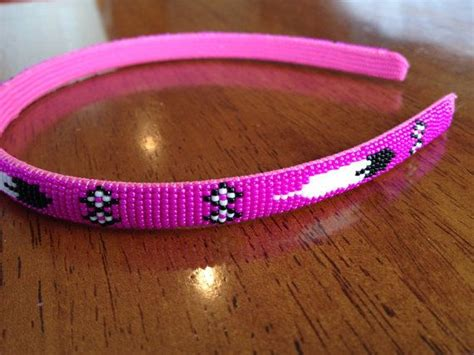 how to make beaded headbands american beaded headband pink