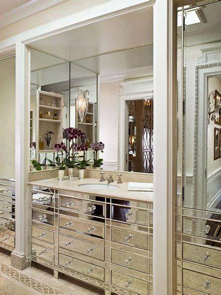 mirrored bathroom wall 17 best ideas about mirrored vanity on pinterest