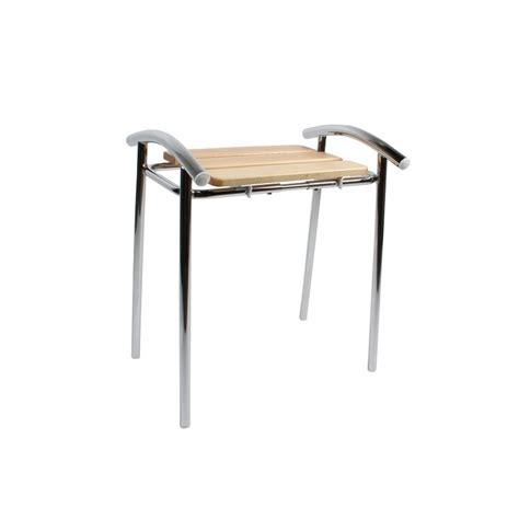 chaise salle de bain tabouret de salle de bain sedilvasca chrom 233 et bois
