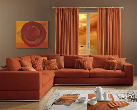 divano arancione gualtieri tendaggi rifacimento