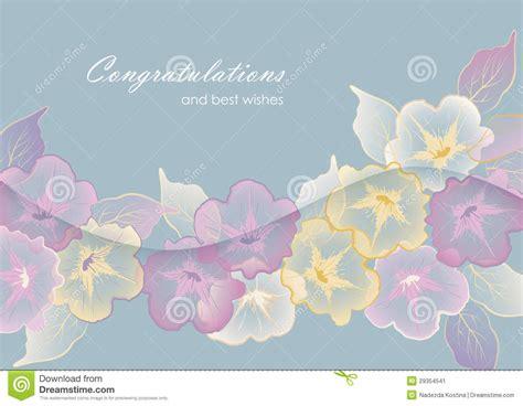Best Wishes Card Design Templates by Tarjeta De Felicitaci 243 N Floral Modelo Con Las Flores