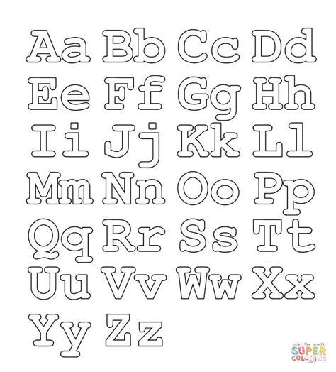 coloring pages capital letters full alphabet worksheet capital and small letters