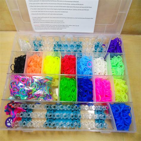 Rainbow Loom Bracelet Box Kit Refill 4400pcs rubber band bracelet refill kit rainbow loom bands