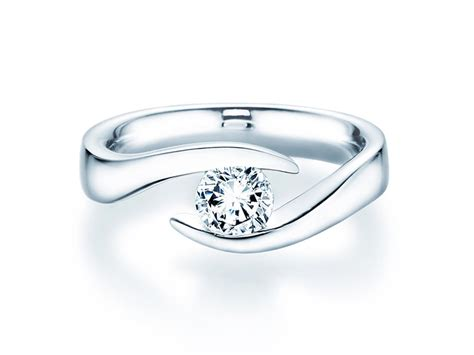 Diamant Verlobungsring by Verlobungsring Twist In 14 Karat Weissgold 585 Mit