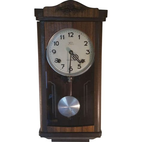 Vintage Wall Clock vintage wall clock from crownfan marked n h t from second
