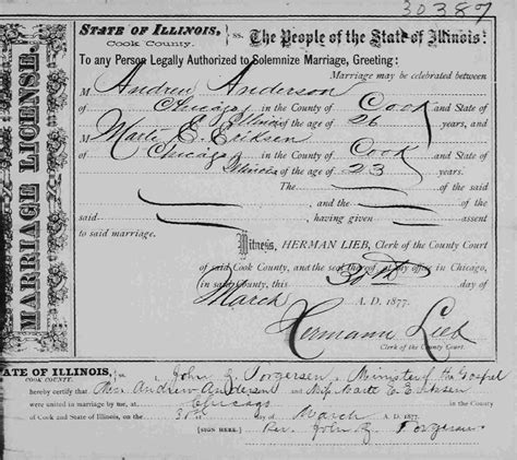 Cook County Records Marriage License So Many Ancestors June 2014