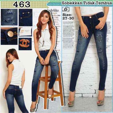 Hitam Model Sobek Banyak butik celana terbaru model celana robek