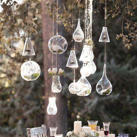 macetas de cristal colgantes esferas casa diseno