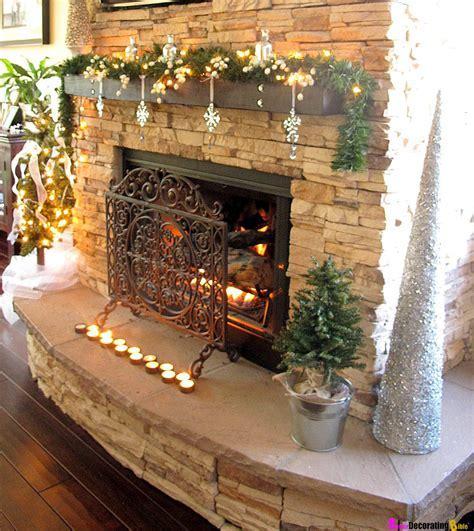 Ideas : Stone Fireplace With Beautiful Mantel Decorating