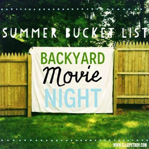 backyard movie night visual summer bucket list for kids