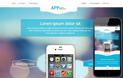 mobile apps templates appmo v2 a mobile app based flat bootstrap responsive web