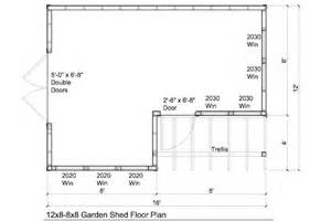 floor plans for sheds 12x8 8x8 garden shed plans with trellis