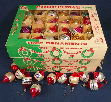 christmas tree ornaments 7 dozen small glass hand painted