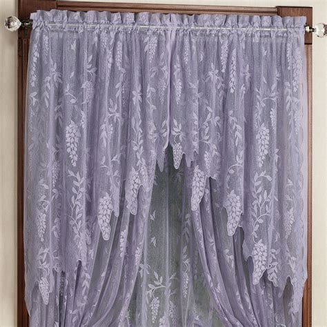 lace drapery panels 100 white lace shower curtain with valance curtains