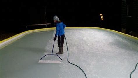 backyard ice resurfacer making ice outdoor rink builder
