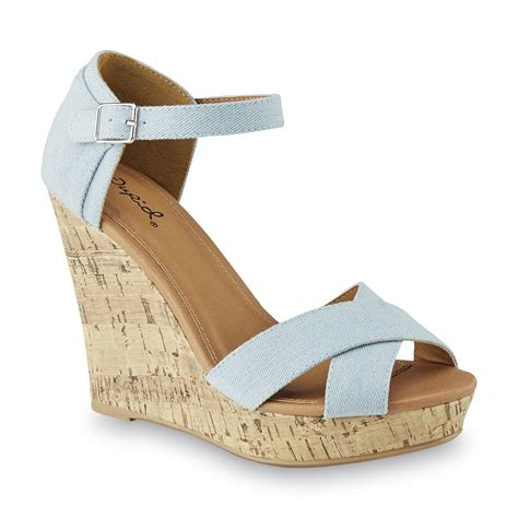 light blue wedge sandals qupid s tillary light blue wedge sandal shoes