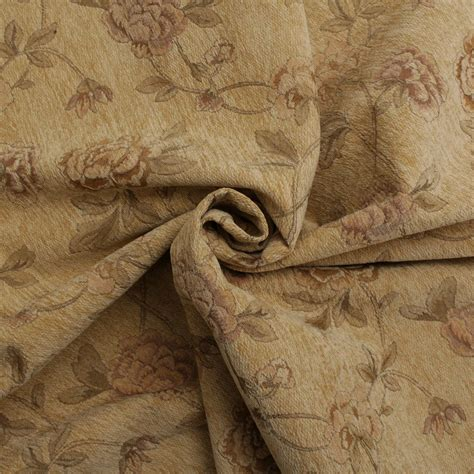 cushion upholstery fabric floral distressed vintage traditional tapestry curtain