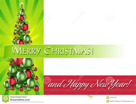 layout for christmas card holiday card layout with ornament tree stock photos