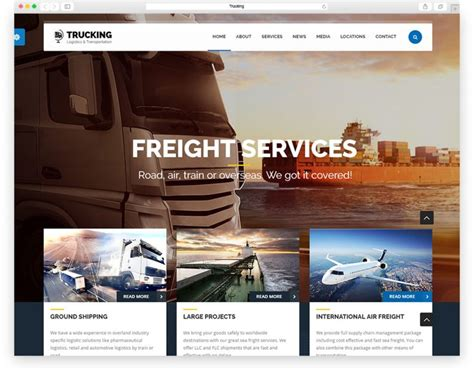 top 10 best transportation and logistics html website templates 2016 edition libthemes