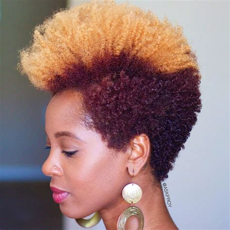 afro hair styles and cuts and color frohawk on natural hair quick and easy