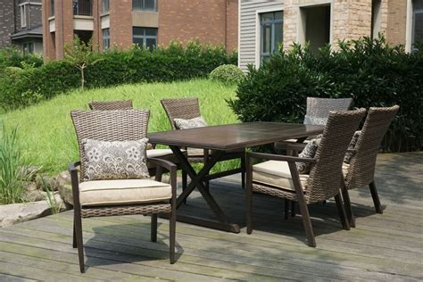 patio furniture thousand oaks hton bay thousand oaks 7 patio dining set the home depot canada