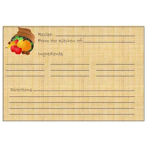 thanksgiving recipe card template free 5 thanksgiving or harvest themed printables greeting card