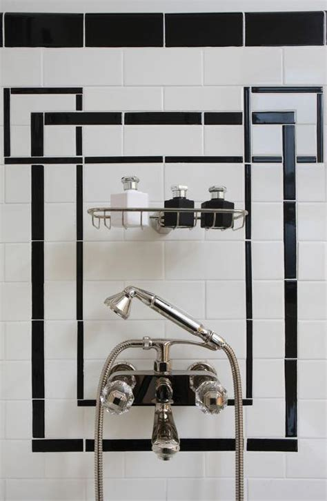 art deco black and white bathroom black and white tiles contemporary bathroom jillian