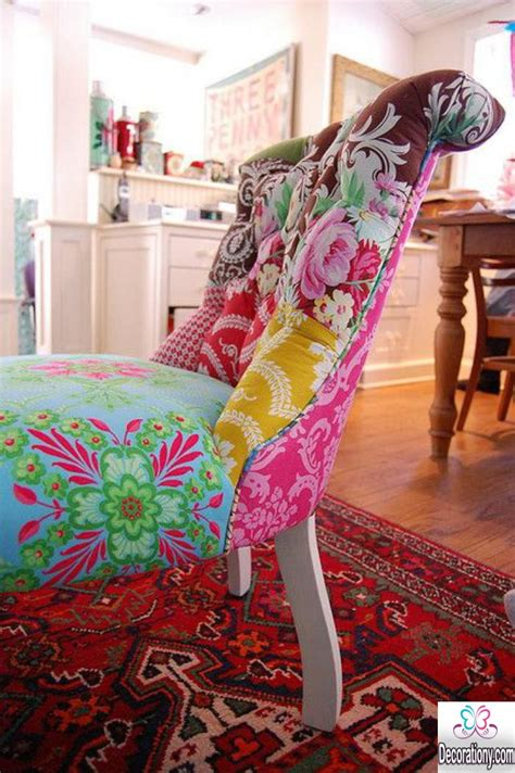 Creative Patchwork - creative patchwork chair design for the living room