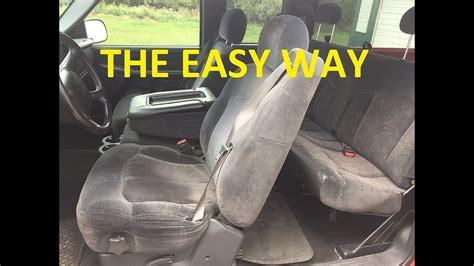 remove seats   chevrolet silverado tahoe