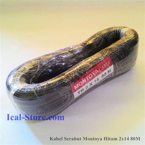 Selang Bakar 8mm Heatsrink Kabel 8mm Hitam kabel serabut montoya tr 2x14 80 meter hitam ical store