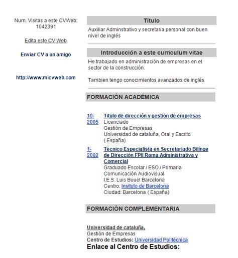 Plantillas De Curriculum En Ingles Word modelocurriculumcv4 gratis 20 modelos curriculum vitae en word para descargar ejemplo
