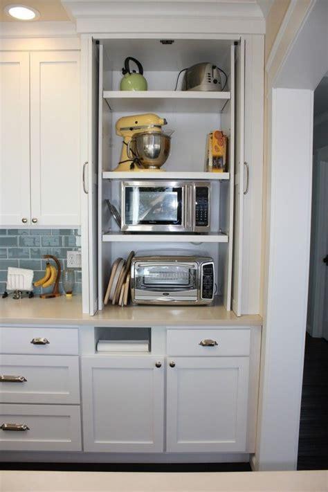 hidden microwave  toaster home kitchens kitchen