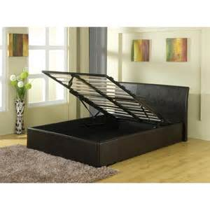 Cheap Bed Frames With Storage Home Decorating Pictures Leather Bed Frames With Storage